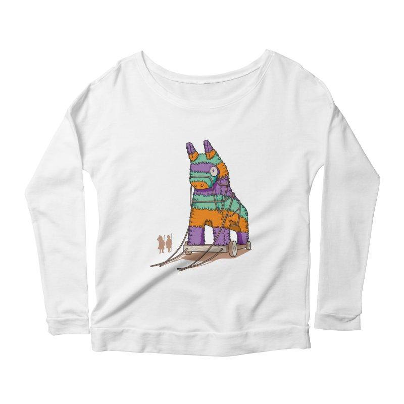 Surprise Party Women's Scoop Neck Longsleeve T-Shirt by westhill's Artist Shop