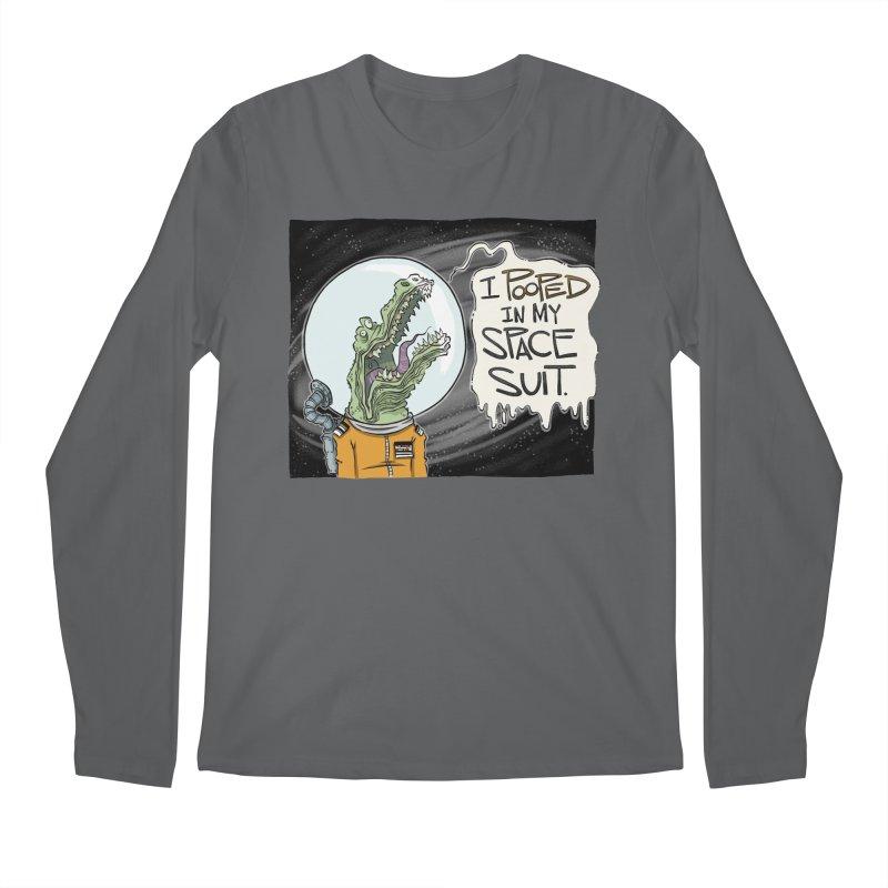 I Pooped in my Spacesuit. Men's Longsleeve T-Shirt by westinchurch's Artist Shop