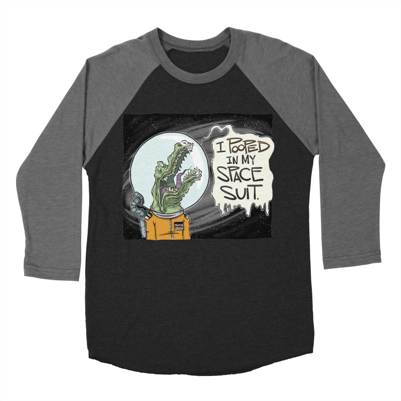 I Pooped in my Spacesuit. Men's Baseball Triblend T-Shirt by westinchurch's Artist Shop