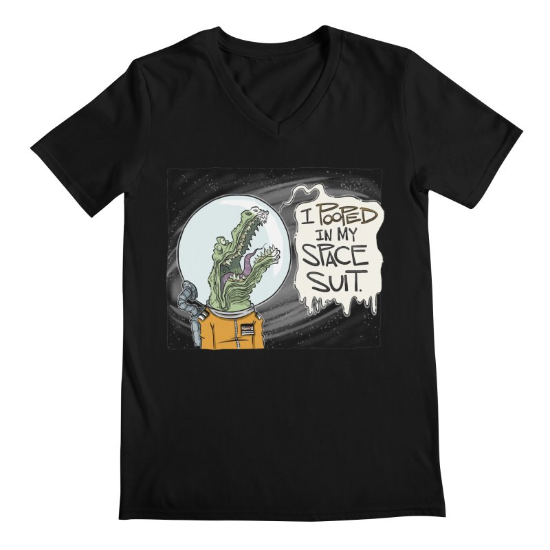 I Pooped in my Spacesuit. Men's V-Neck by westinchurch's Artist Shop