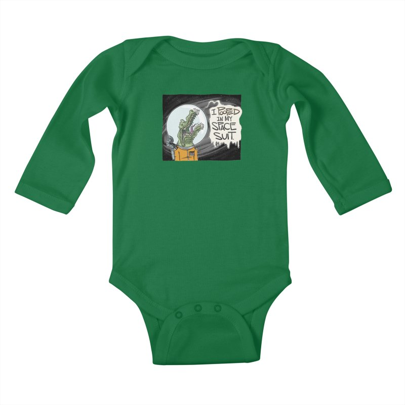 I Pooped in my Spacesuit. Kids Baby Longsleeve Bodysuit by westinchurch's Artist Shop