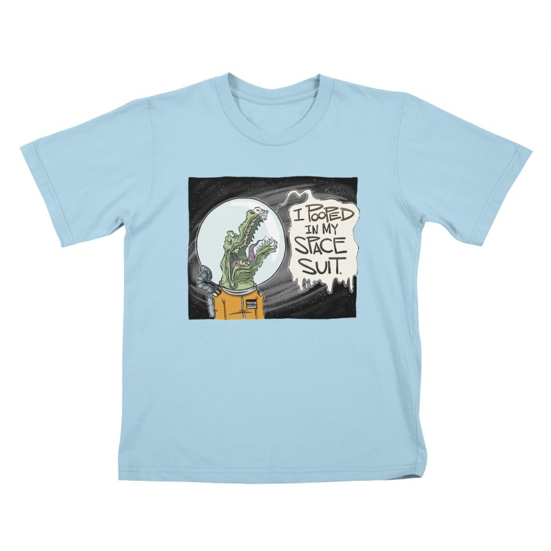 I Pooped in my Spacesuit. Kids T-shirt by westinchurch's Artist Shop