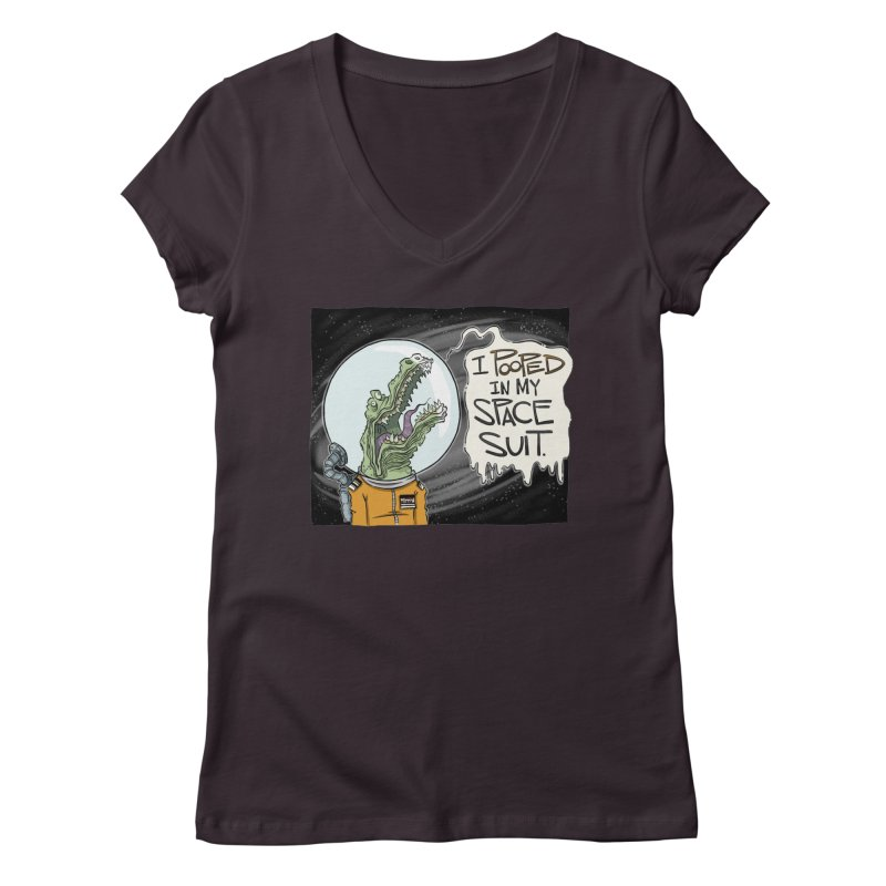 I Pooped in my Spacesuit. Women's V-Neck by westinchurch's Artist Shop