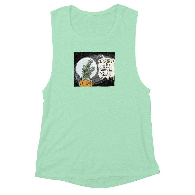 I Pooped in my Spacesuit. Women's Muscle Tank by westinchurch's Artist Shop