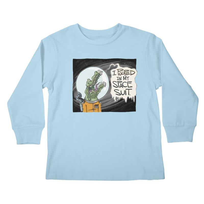 I Pooped in my Spacesuit. Kids Longsleeve T-Shirt by westinchurch's Artist Shop
