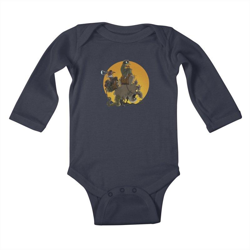 Explorers Kids Baby Longsleeve Bodysuit by westinchurch's Artist Shop