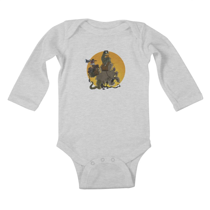 Explorers Kids Baby Longsleeve Bodysuit by westinchurch's Artist Shop