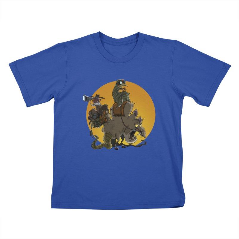 Explorers Kids T-Shirt by westinchurch's Artist Shop