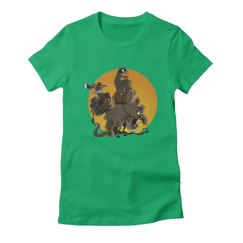 Explorers Women's Fitted T-Shirt by westinchurch's Artist Shop