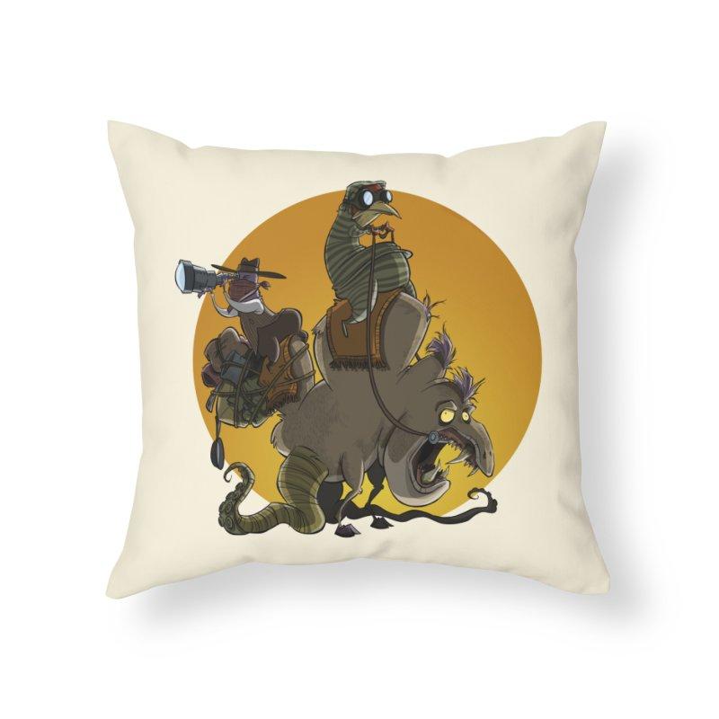 Explorers Home Throw Pillow by westinchurch's Artist Shop
