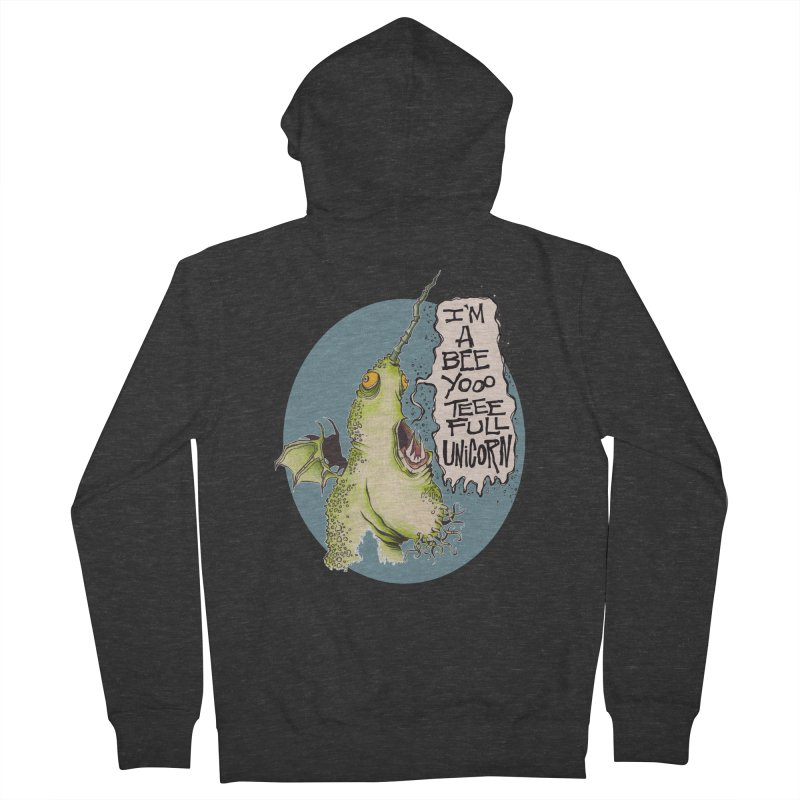 Beeyoooteeefull Unicorn Men's Zip-Up Hoody by westinchurch's Artist Shop