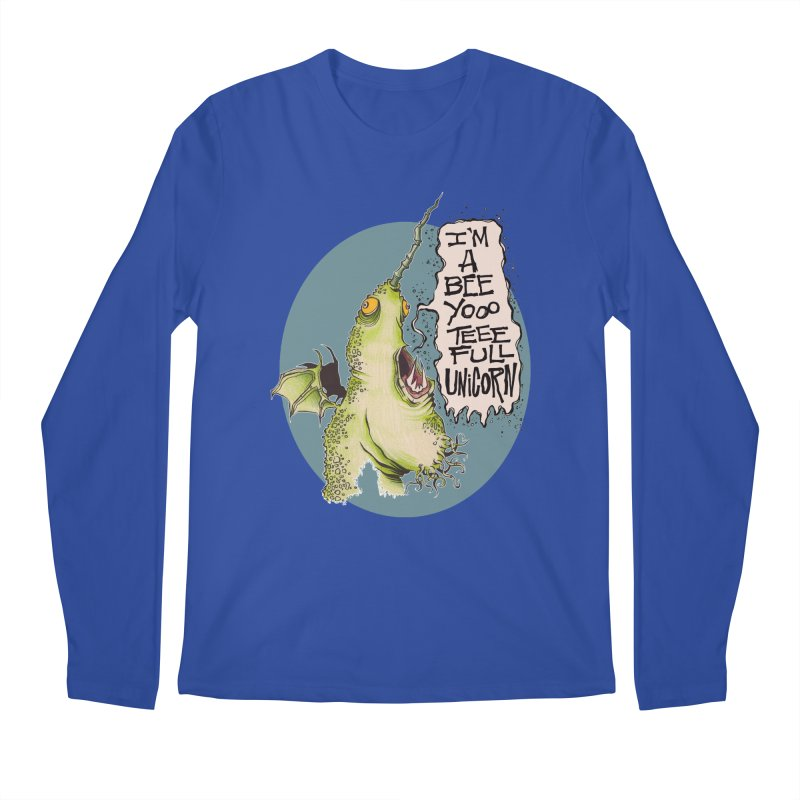 Beeyoooteeefull Unicorn Men's Longsleeve T-Shirt by westinchurch's Artist Shop