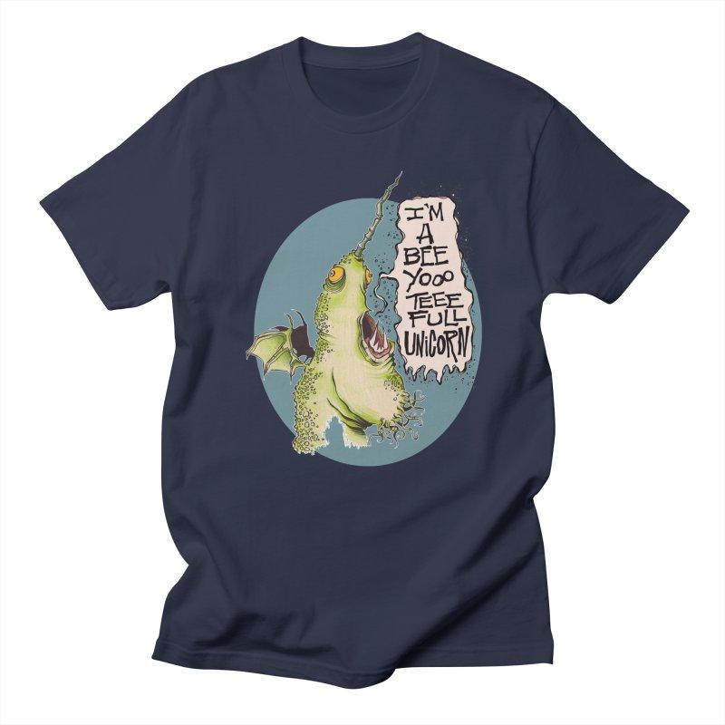 Beeyoooteeefull Unicorn Men's T-shirt by westinchurch's Artist Shop