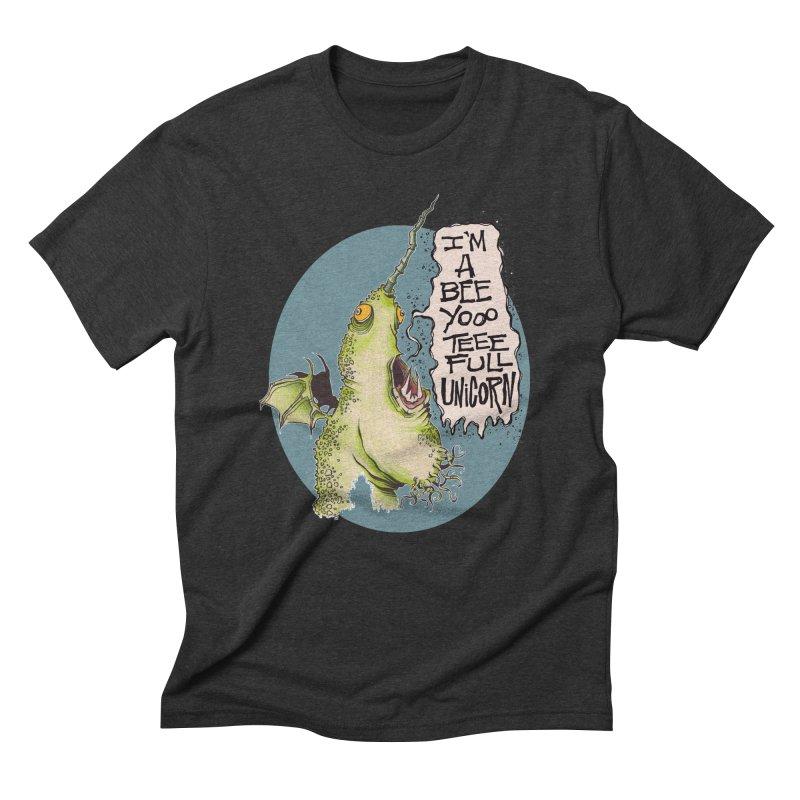 Beeyoooteeefull Unicorn Men's Triblend T-Shirt by westinchurch's Artist Shop