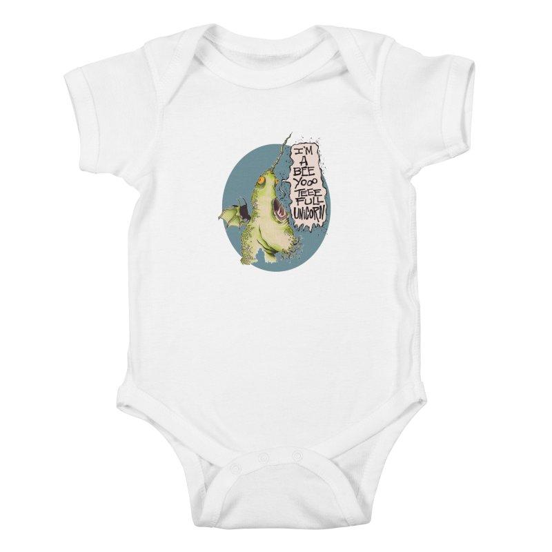 Beeyoooteeefull Unicorn Kids Baby Bodysuit by westinchurch's Artist Shop