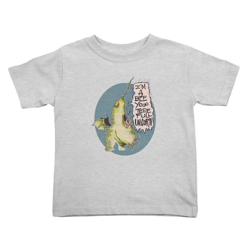Beeyoooteeefull Unicorn Kids Toddler T-Shirt by westinchurch's Artist Shop