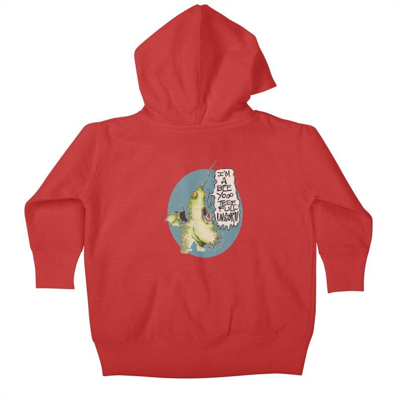 Beeyoooteeefull Unicorn Kids Baby Zip-Up Hoody by westinchurch's Artist Shop