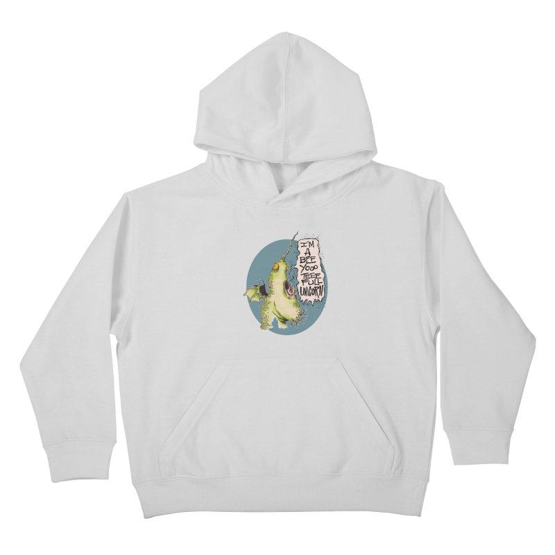 Beeyoooteeefull Unicorn Kids Pullover Hoody by westinchurch's Artist Shop
