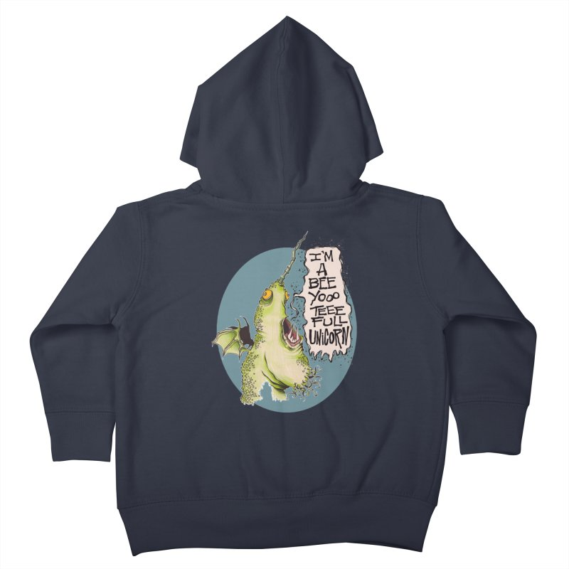 Beeyoooteeefull Unicorn Kids Toddler Zip-Up Hoody by westinchurch's Artist Shop