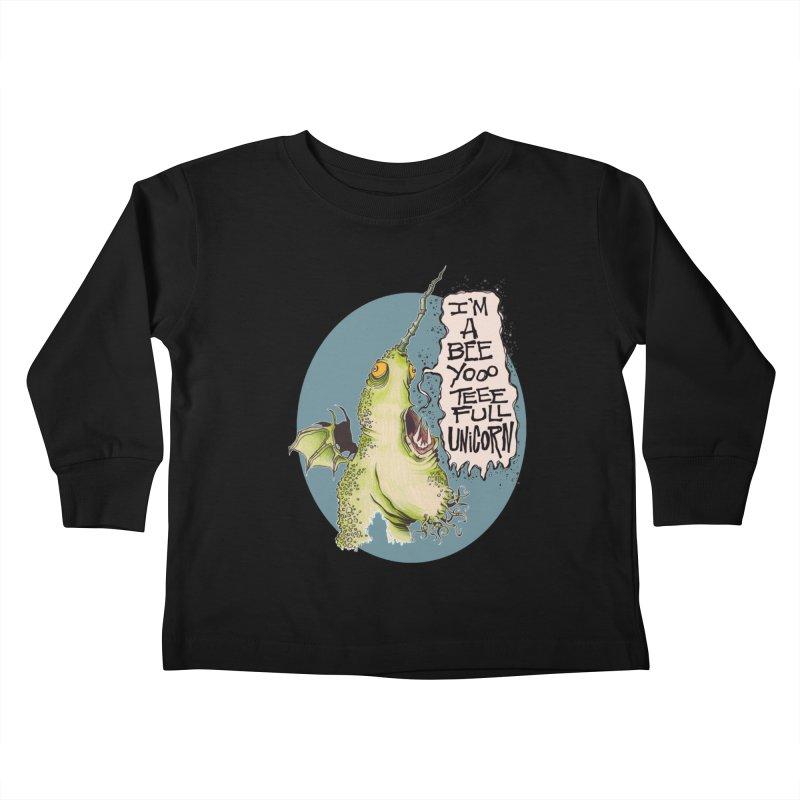 Beeyoooteeefull Unicorn Kids Toddler Longsleeve T-Shirt by westinchurch's Artist Shop