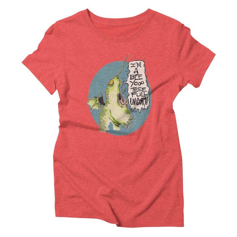 Beeyoooteeefull Unicorn Women's Triblend T-Shirt by westinchurch's Artist Shop