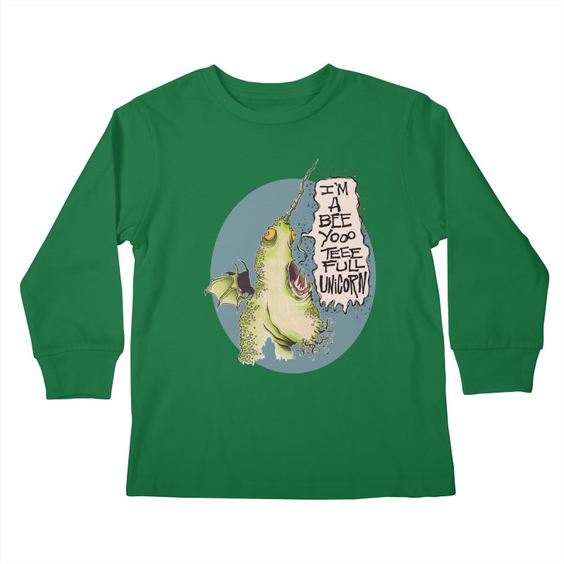 Beeyoooteeefull Unicorn Kids Longsleeve T-Shirt by westinchurch's Artist Shop