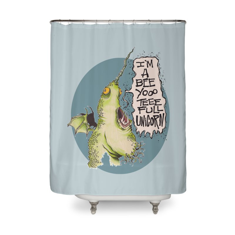 Beeyoooteeefull Unicorn Home Shower Curtain by westinchurch's Artist Shop