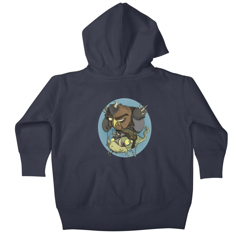 Riding Into Battle Kids Baby Zip-Up Hoody by westinchurch's Artist Shop