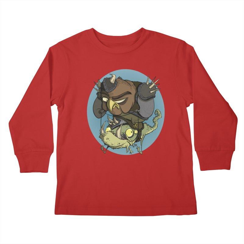 Riding Into Battle Kids Longsleeve T-Shirt by westinchurch's Artist Shop