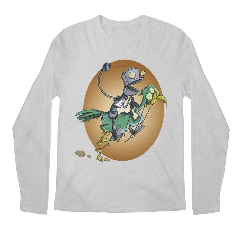 Ostrich Race Men's Longsleeve T-Shirt by westinchurch's Artist Shop