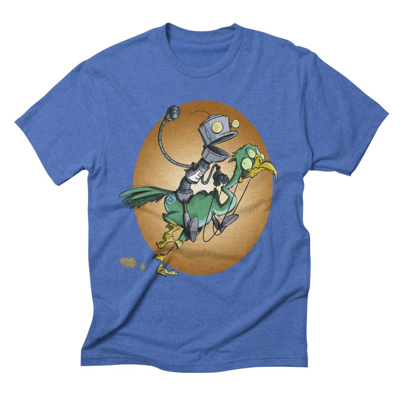 Ostrich Race Men's Triblend T-Shirt by westinchurch's Artist Shop
