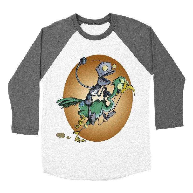 Ostrich Race Women's Baseball Triblend T-Shirt by westinchurch's Artist Shop