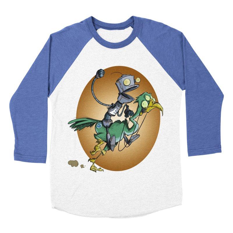 Ostrich Race Men's Baseball Triblend T-Shirt by westinchurch's Artist Shop