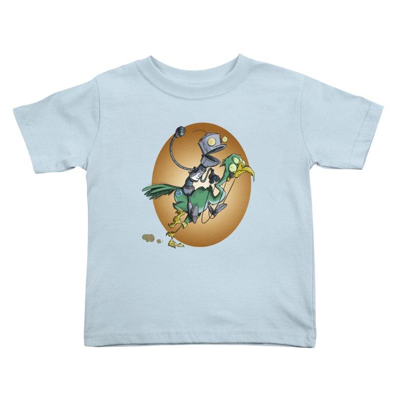 Ostrich Race Kids Toddler T-Shirt by westinchurch's Artist Shop