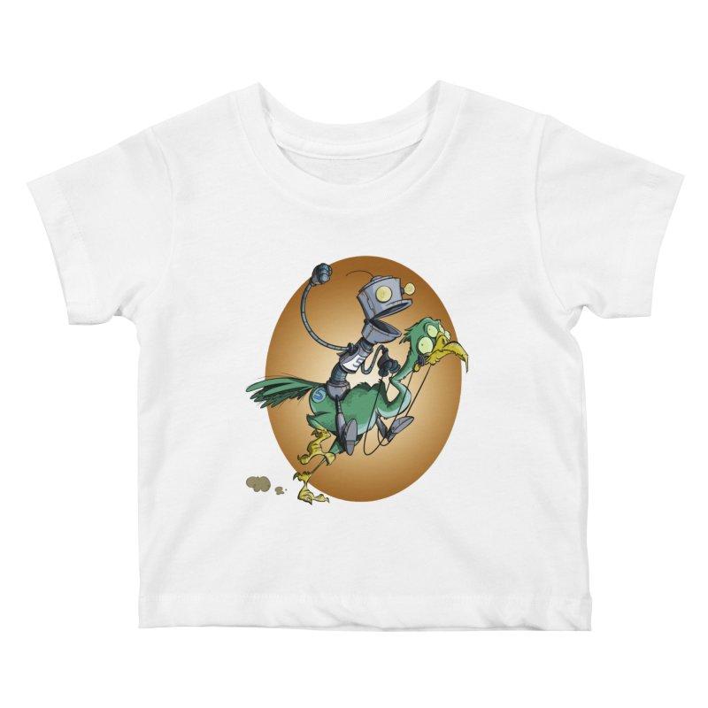 Ostrich Race Kids Baby T-Shirt by westinchurch's Artist Shop
