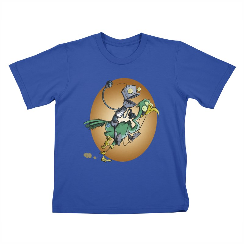 Ostrich Race Kids T-shirt by westinchurch's Artist Shop