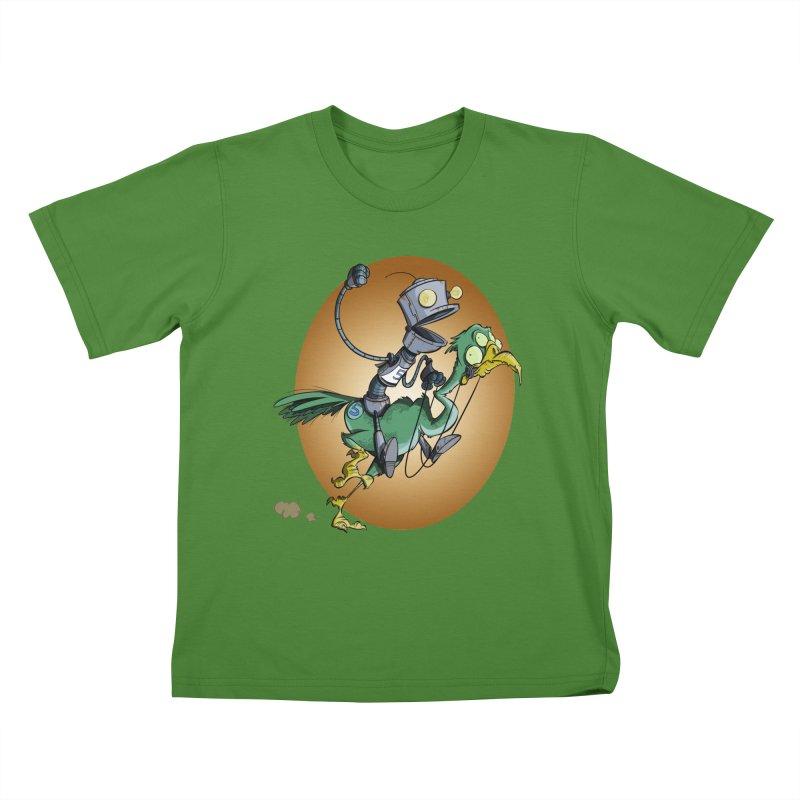 Ostrich Race Kids T-Shirt by westinchurch's Artist Shop