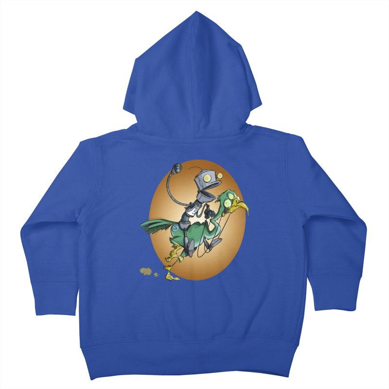 Ostrich Race Kids Toddler Zip-Up Hoody by westinchurch's Artist Shop