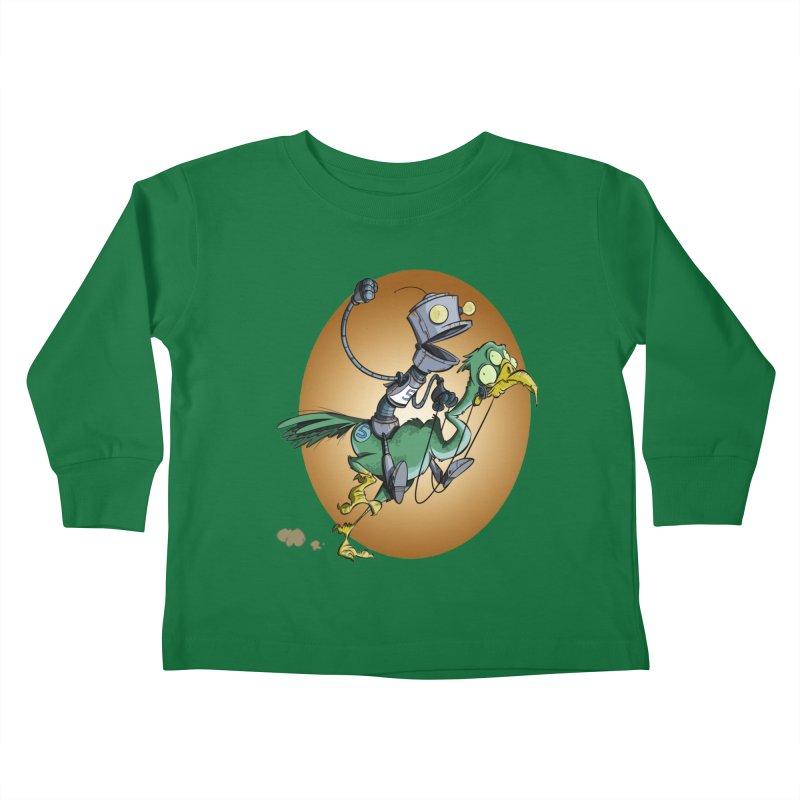 Ostrich Race Kids Toddler Longsleeve T-Shirt by westinchurch's Artist Shop