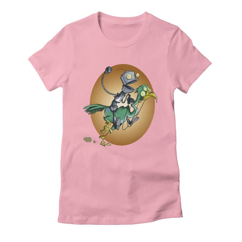 Ostrich Race Women's Fitted T-Shirt by westinchurch's Artist Shop
