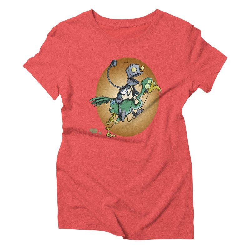 Ostrich Race Women's Triblend T-Shirt by westinchurch's Artist Shop