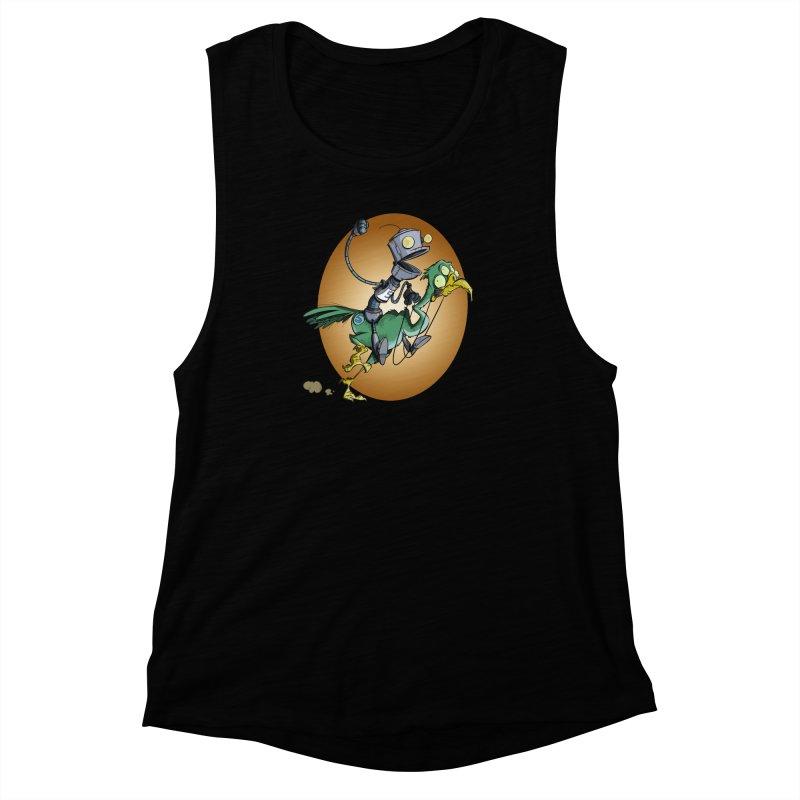 Ostrich Race Women's Muscle Tank by westinchurch's Artist Shop
