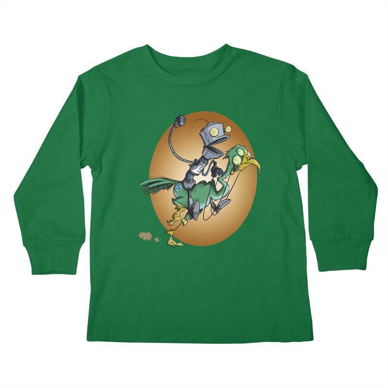Ostrich Race Kids Longsleeve T-Shirt by westinchurch's Artist Shop