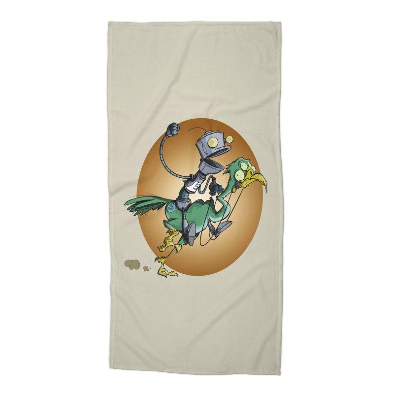 Ostrich Race Accessories Beach Towel by westinchurch's Artist Shop