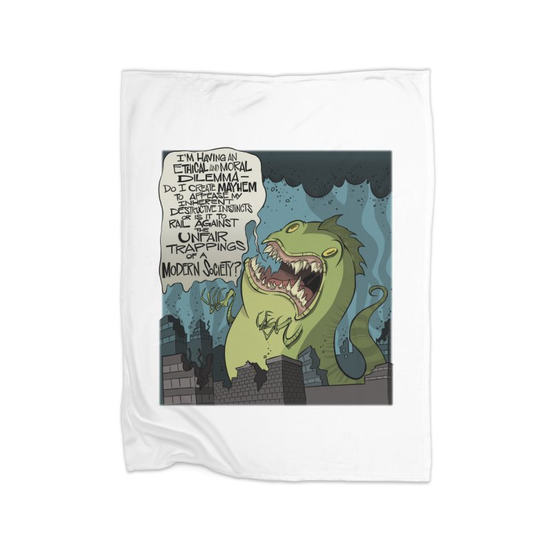 Existential Godzilla Home Blanket by westinchurch's Artist Shop
