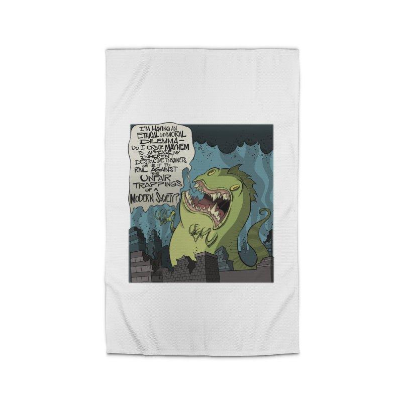 Existential Godzilla Home Rug by westinchurch's Artist Shop