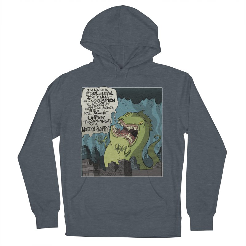 Existential Godzilla Men's Pullover Hoody by westinchurch's Artist Shop