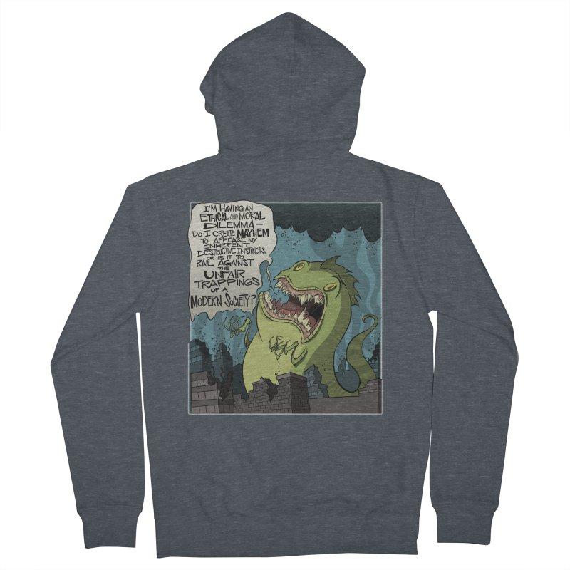 Existential Godzilla Women's Zip-Up Hoody by westinchurch's Artist Shop
