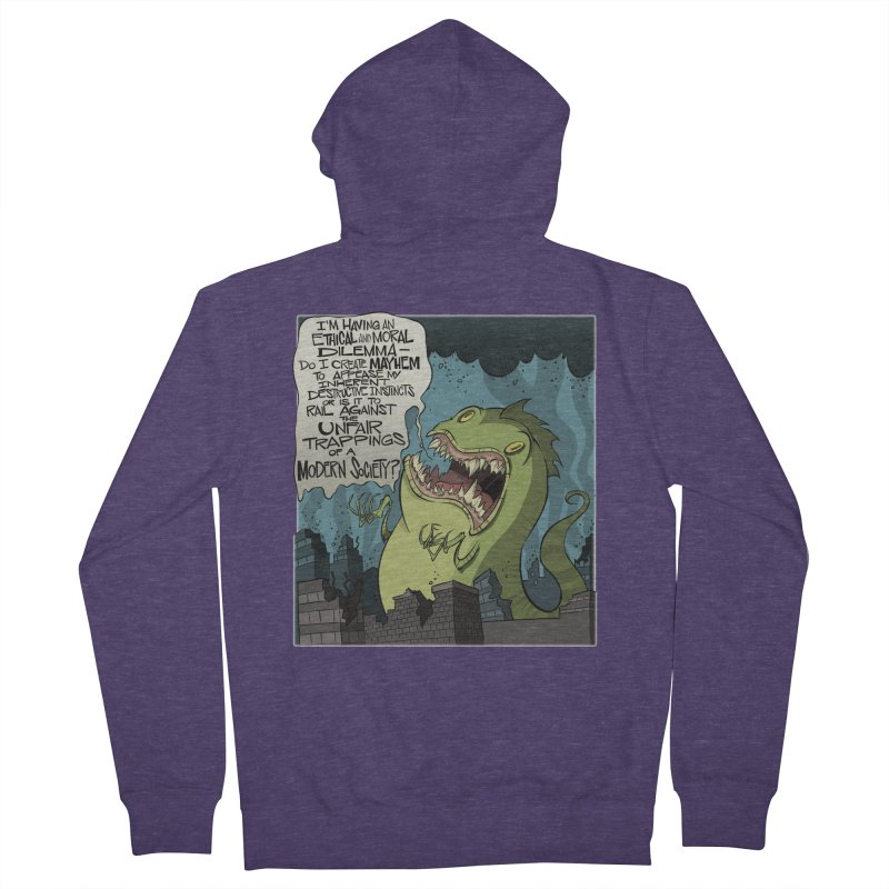 Existential Godzilla Men's Zip-Up Hoody by westinchurch's Artist Shop