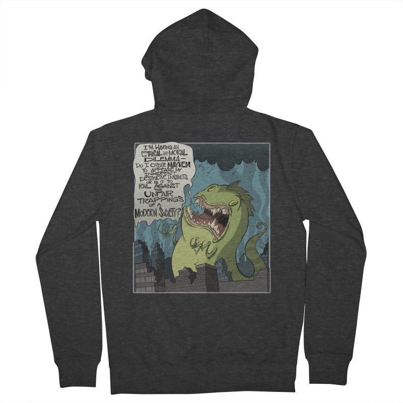 Existential Godzilla Men's Zip-Up Hoody by westinchurch's Artist Shop